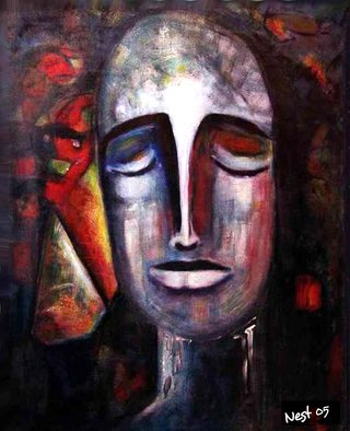 Nest Lopes: 'Meditation', 2005 Acrylic Painting, Meditation. Artist Description:  Original acrylic painting, painted in Buenos Aires ( Argentina) on 2005meditation, acrylic, canvas, ...