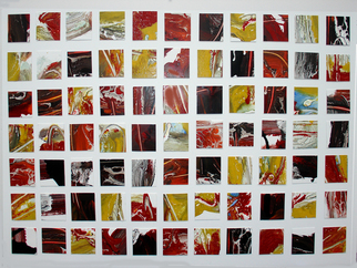 Collage by Annette Labedzki titled: 77 Squares, created in 2008