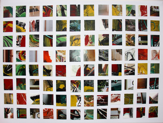 Collage by Annette Labedzki titled: 96 Squares I, created in 2008