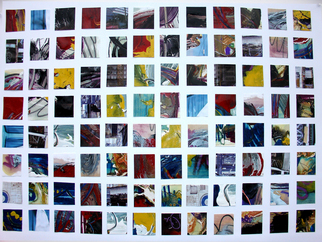 Collage by Annette Labedzki titled: 96 Squares II, 2008