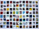 Collage by Annette Labedzki titled: 96 Squares II, created in 2008