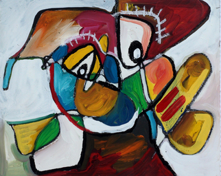 Annette Labedzki Artwork Class Clown, 2010 Mixed Media, Abstract Figurative