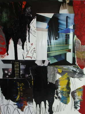 Collage by Annette Labedzki titled: Collage 513, created in 2009