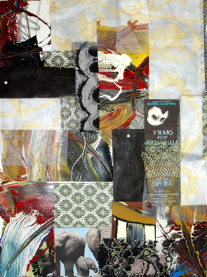 Collage by Annette Labedzki titled: Collage 517, 2009