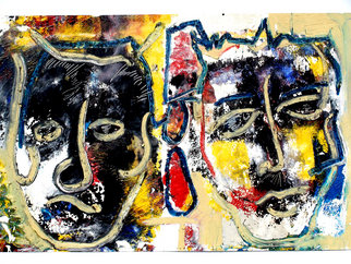 Annette Labedzki Artwork Drag Queens, 2010 Mixed Media, Abstract Figurative