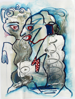 Annette Labedzki Artwork Exploration, 2010 Mixed Media, Abstract Figurative