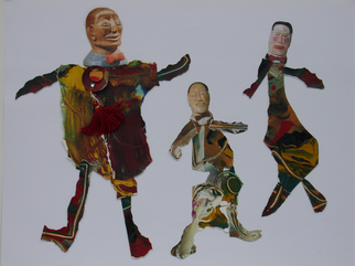 Collage by Annette Labedzki titled: Figures 1, created in 2008