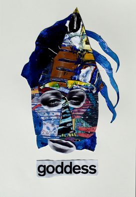 Collage by Annette Labedzki titled: Goddess, created in 2010