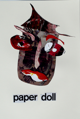 Collage by Annette Labedzki titled: Paper Doll, created in 2010