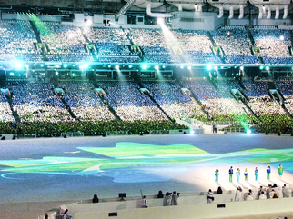Color Photograph by Annette Labedzki titled: Paralympic Opening Ceremonies I, created in 2010