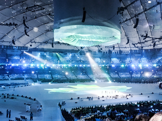 Color Photograph by Annette Labedzki titled: Paralympic Opening Ceremonies II, created in 2010