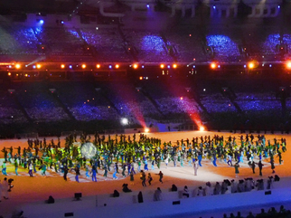 Color Photograph by Annette Labedzki titled: Paralympic Opening Ceremonies III, created in 2010
