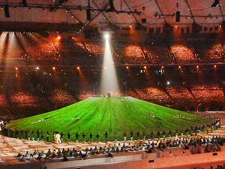 Color Photograph by Annette Labedzki titled: Paralympic Opening Ceremonies IV, created in 2010