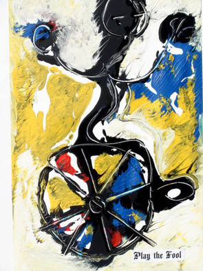 Annette Labedzki Artwork Play The Fool, 2010 Mixed Media, Abstract