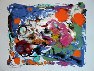 Annette Labedzki Artwork Print 582, 2009 Monoprint, Abstract
