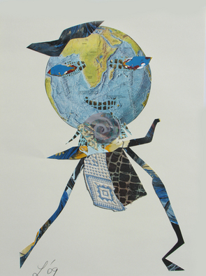 Collage by Annette Labedzki titled: The Hidden Bird, 2009