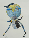 Collage by Annette Labedzki titled: The Hidden Bird, created in 2009