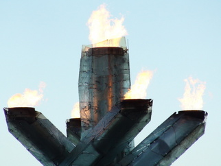 Color Photograph by Annette Labedzki titled: The Olympic Cauldron 2010, created in 2010