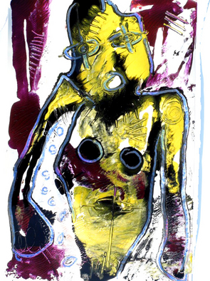 Annette Labedzki Artwork The Painter, 2009 Mixed Media, Abstract Figurative