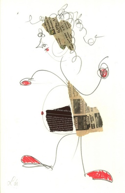 Collage by Annette Labedzki titled: Tina, created in 2008