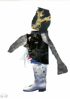 Collage by Annette Labedzki titled: Untitled Figure, created in 2008