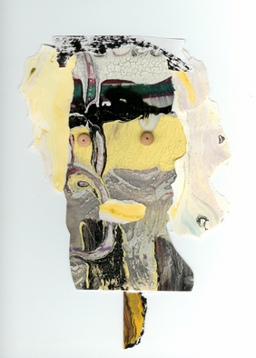 Collage by Annette Labedzki titled: Untitled Portrait, created in 2008