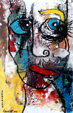 Annette Labedzki Artwork Yearning, 2011 Mixed Media, Abstract Figurative