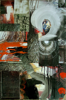 Collage by Annette Labedzki titled: collage 10, created in 2006