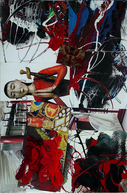 Collage by Annette Labedzki titled: collage 13, created in 2006