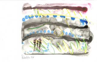 Annette Labedzki Artwork watercolor, 2008 Mixed Media, Abstract