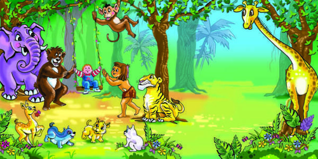 Rajendra Newaskar  'Jungle Book', created in 2005, Original Illustration.