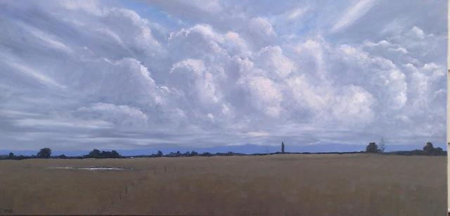 Terry Dower  'Late Day At Pitt Town Bottoms Nsw', created in 2013, Original Painting Oil.