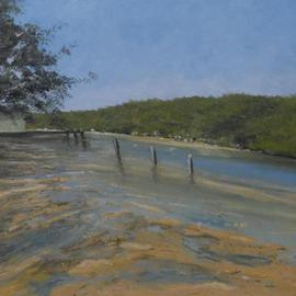 Terry Dower: 'Patonga creek,Morning', 2013 Oil Painting, Seascape. Artist Description:   Oil on canvas             ...