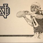 Brady Quinn ND By Louis Quattrini