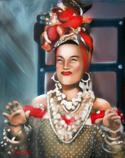 Newton Florentino  'Carmen Miranda', created in 2010, Original Painting Oil.
