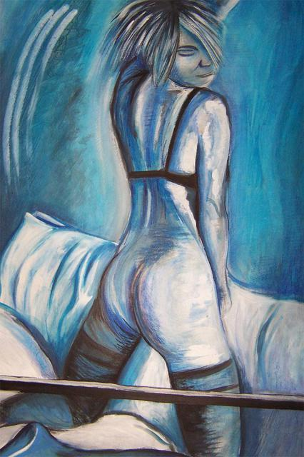 Nicole Brennan  'Blue Lady ', created in 2004, Original Painting Oil.