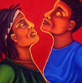 Artist: Nicole Peña - Title: The Gaze - Medium: Acrylic Painting - Year: 1998