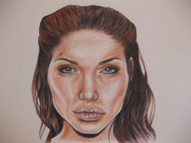 Nicole Pereira  'Angelina Jolie', created in 2014, Original Drawing Other.