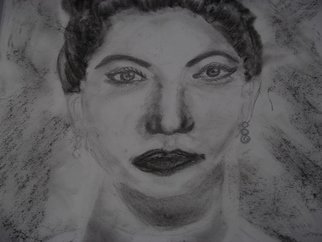 Portrait Charcoal Drawing by Nicole Pereira Title: Brunette Woman, created in 2012