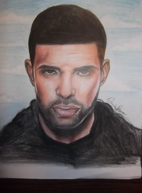 Nicole Pereira Artwork Drake , 2015 Pencil Drawing, Celebrity