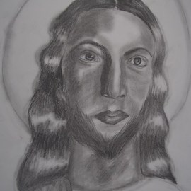 Nicole Pereira: 'Jesus Christ', 2012 Pencil Drawing, Christian. Artist Description: Portrait, Jesus Christ, christ, christian ...