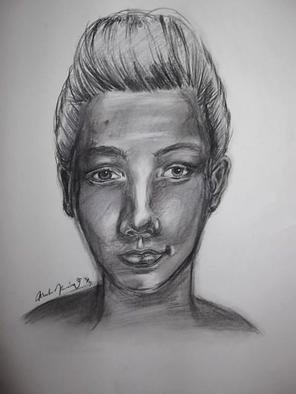Portrait Charcoal Drawing by Nicole Pereira Title: Louis Tomlinson of One Direction Celebrity Portrait , created in 2013