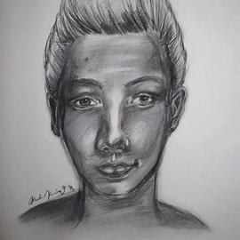 Louis Tomlinson of One Direction Celebrity Portrait