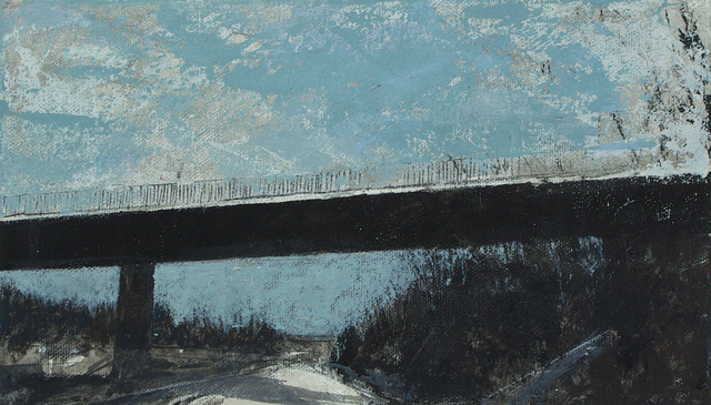 Alain Nicolet  'Pont', created in 2011, Original Painting Acrylic.