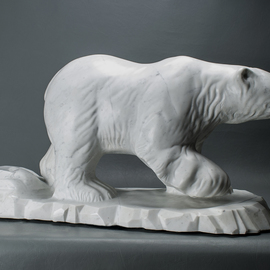 Leslie Dycke: 'Polar King', 2016 Marble Sculpture, Animals. Artist Description: Living in Canada and having seen these magnificent creatures close up, I decided to create this piece. I plan to use money from the sale of this piece to donate to organizations to preserve and protectthis remarkable species. ...
