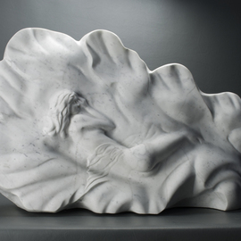 Leslie Dycke: 'Venus in Repose', 2017 Marble Sculpture, nudes. Artist Description: Inspired by the painting The Birth of Venus by Sandro Botticelli my sculpture represents the moment of creation where Venus is dreamed into existence from the void.It is my hope that viewers will feel that dreamlike state and reflect upon when and where these moments of thought ...