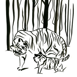 tigers in the woods By Niina Niskanen