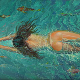 swimming  By Sergey Lesnikov