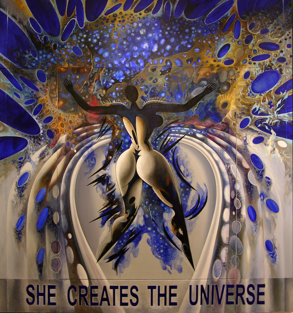 Nikolai Bartossik  'SHE CREATES THE UNIVERSE', created in 2010, Original Painting Acrylic.