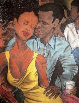 Nikkia Branch: 'backbar', 2004 Pastel, Ethnic. series of eight daclub for lovers only...